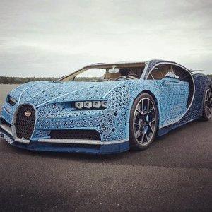 樂高就是狂! 1:1等身的Bugatti Chiron模型車 還能開上路!