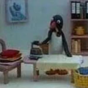 企鵝家族:爸爸燙衣服