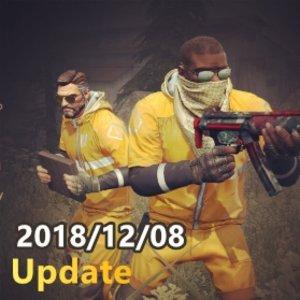 2018/12/08 Update 更新事項 大逃殺修正和大逃殺社群伺服器指令